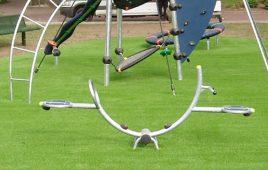 Kunstrasen mit Fallschutz für den modernen öffentlichen Spielplatz