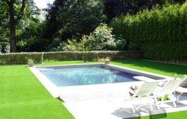 Premium Kunstrasen für den privaten Poolbereich